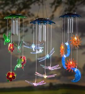 Solar Lighted Wind Chime Mobile