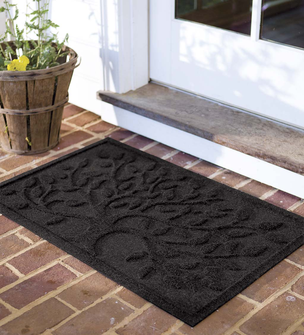 Waterhog Tree of Life Doormat, 2' x 3' - Charcoal