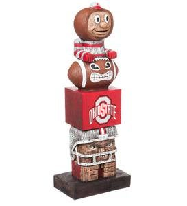 College Football Fan Totem Pole