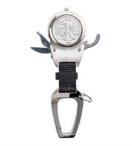 Year-to-Remember Pocket Watch Compass Multi-Tool with Commemorative Half Dollar