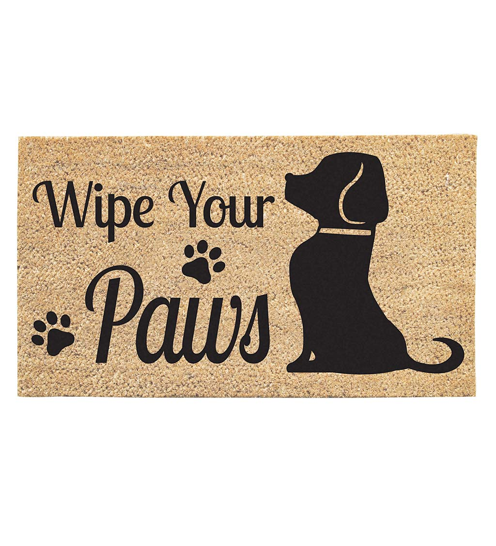 Wipe Your Paws Dog Coir Mat