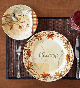 Autumn Dinner Plate and Dessert Plates