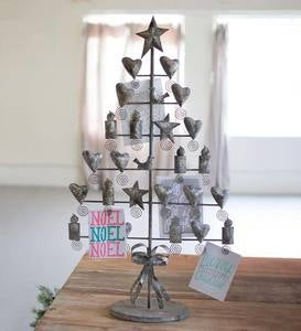 Metal Christmas Tree Greeting Card Holder