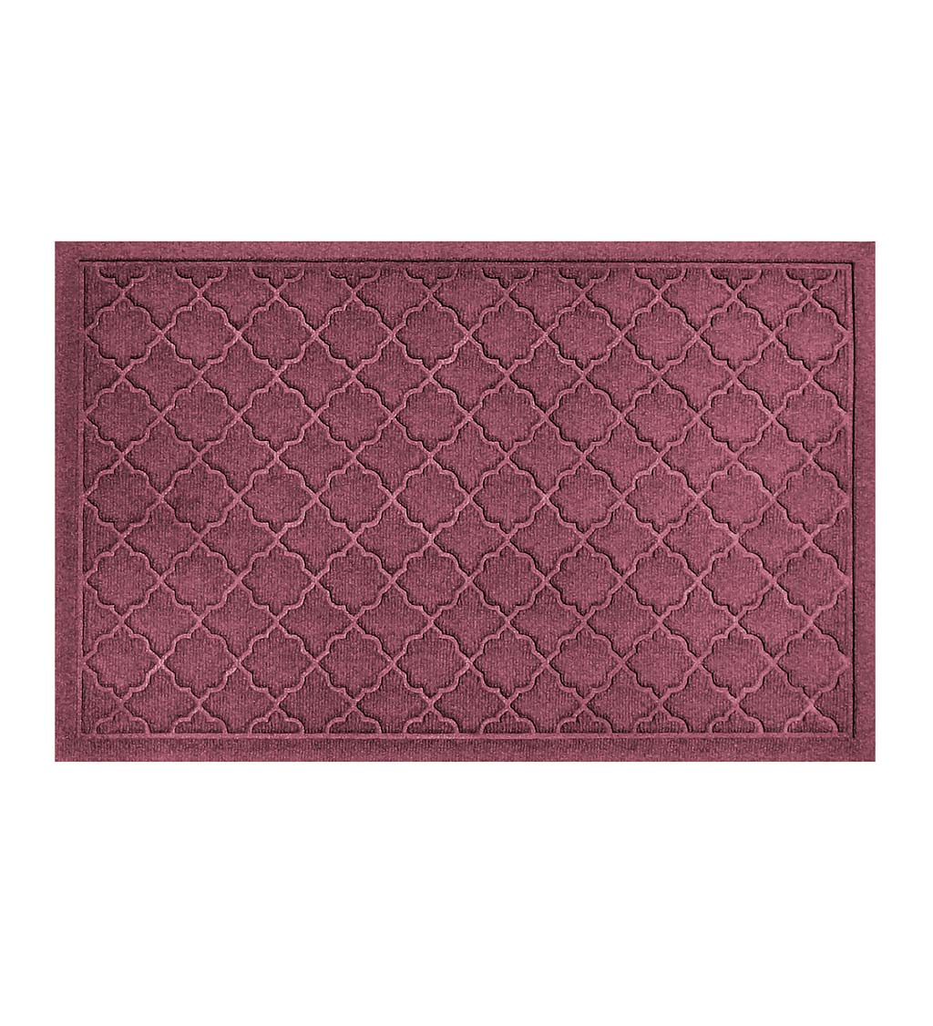 Waterhog Indoor/Outdoor Geometric Doormat, 4' x 6' - Bordeaux