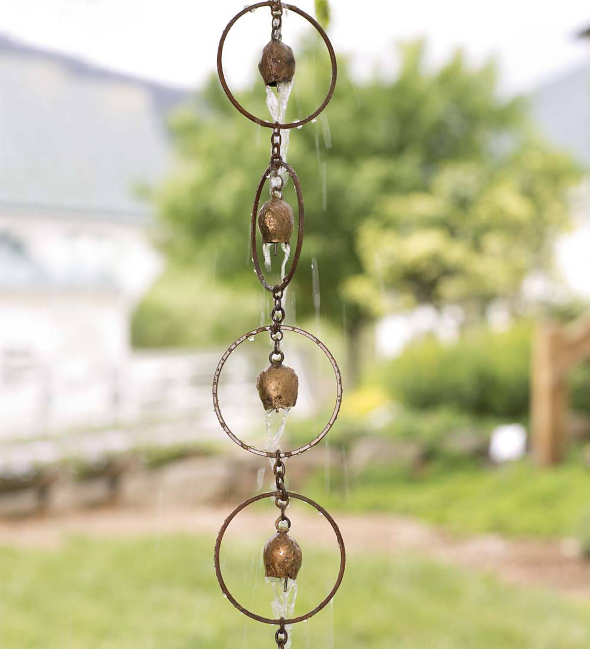 Bell Rain Chain Rain Chains Amp Downspouts Landscaping