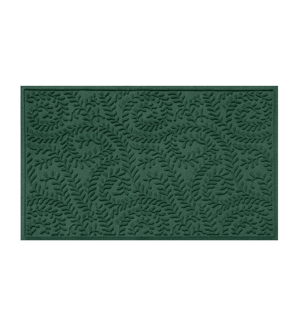 "Waterhog Indoor/Outdoor Leaves Doormat, 22"" x 60"" - Evergreen"