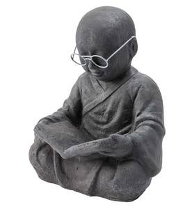 Reading Monk Sculpture