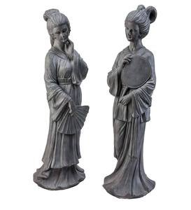 Japanese Ladies Statues, Set of 2