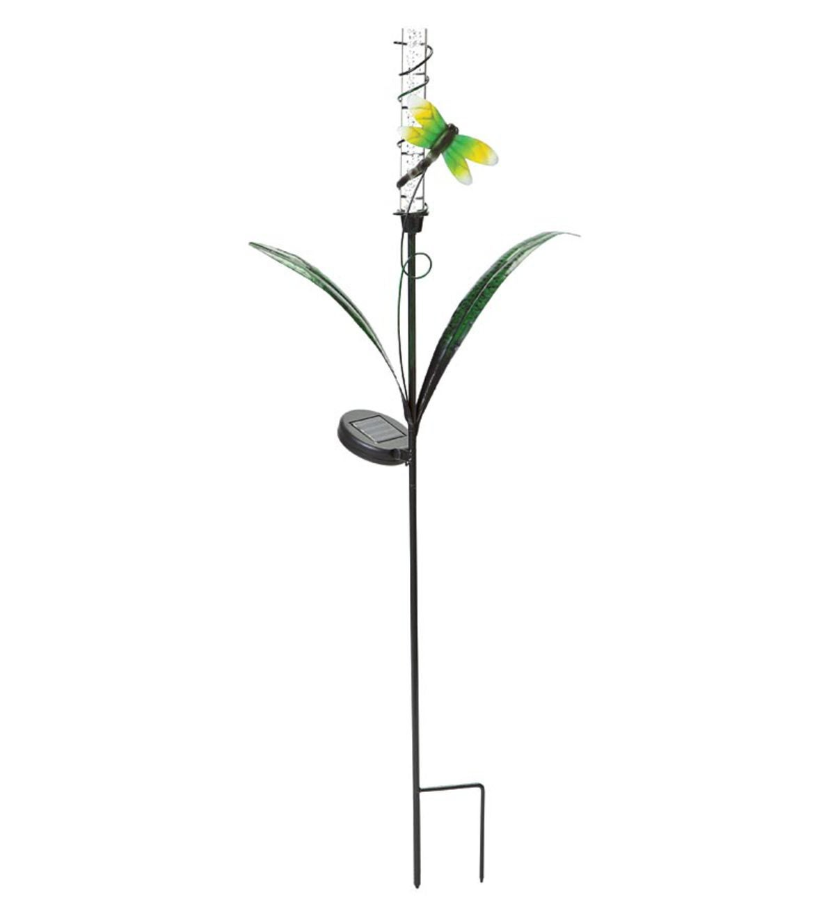 Solar Color-Changing Metal Garden Stake - Dragonfly