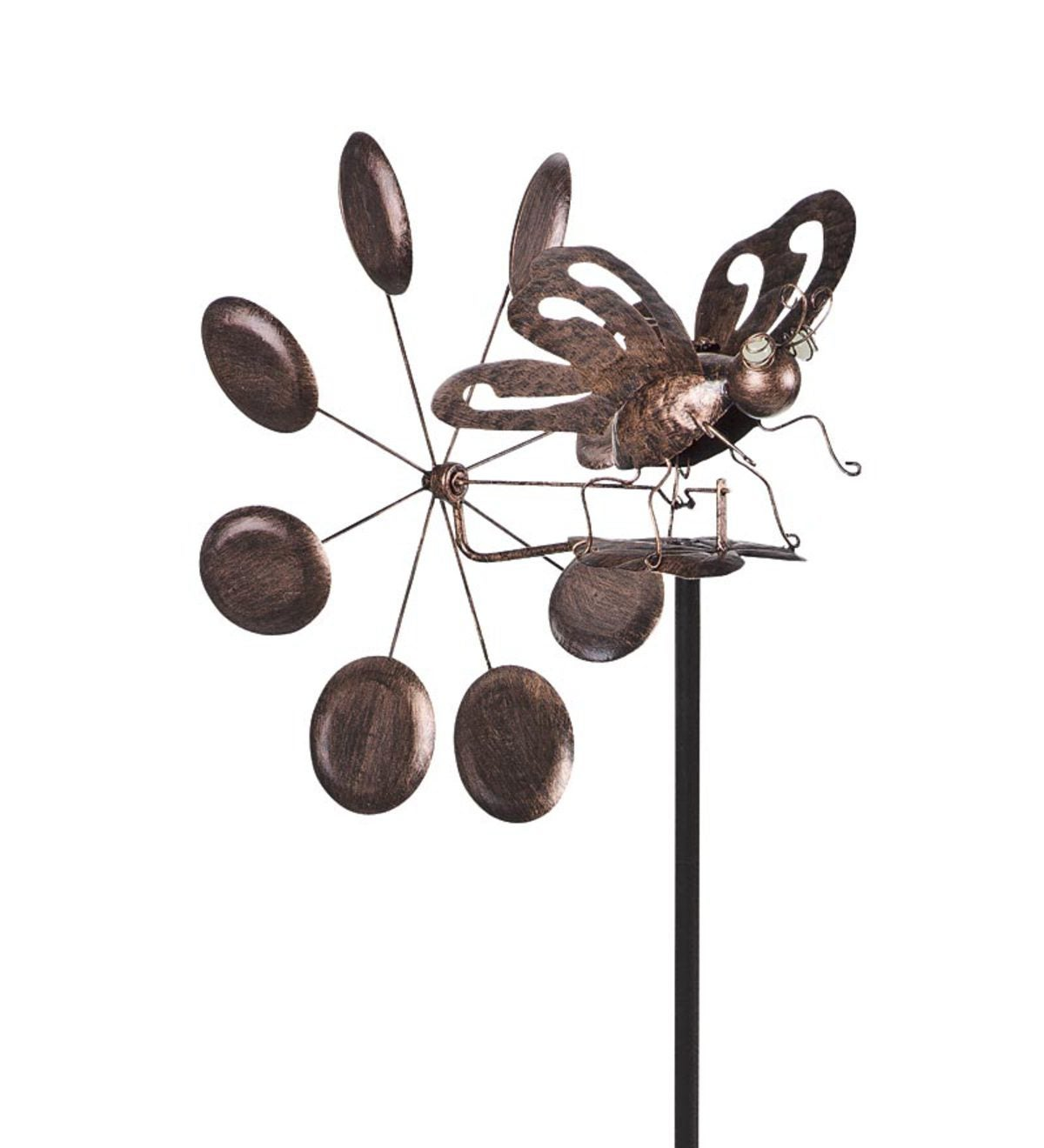 Solar Dragonfly or Butterfly Wind Spinner/Whirligig - Butterfly