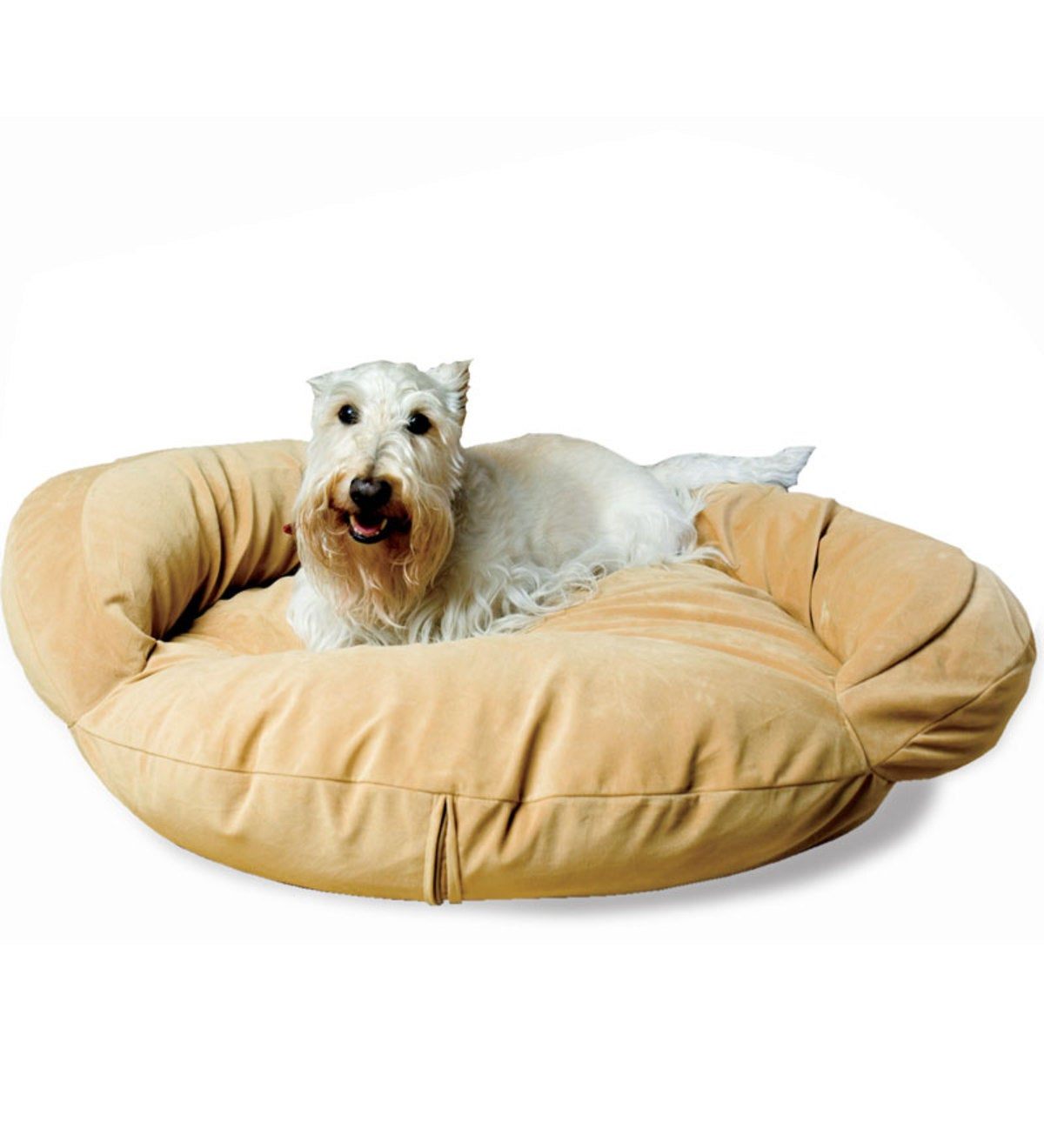 Small Bolster Pet Bed - Caramel