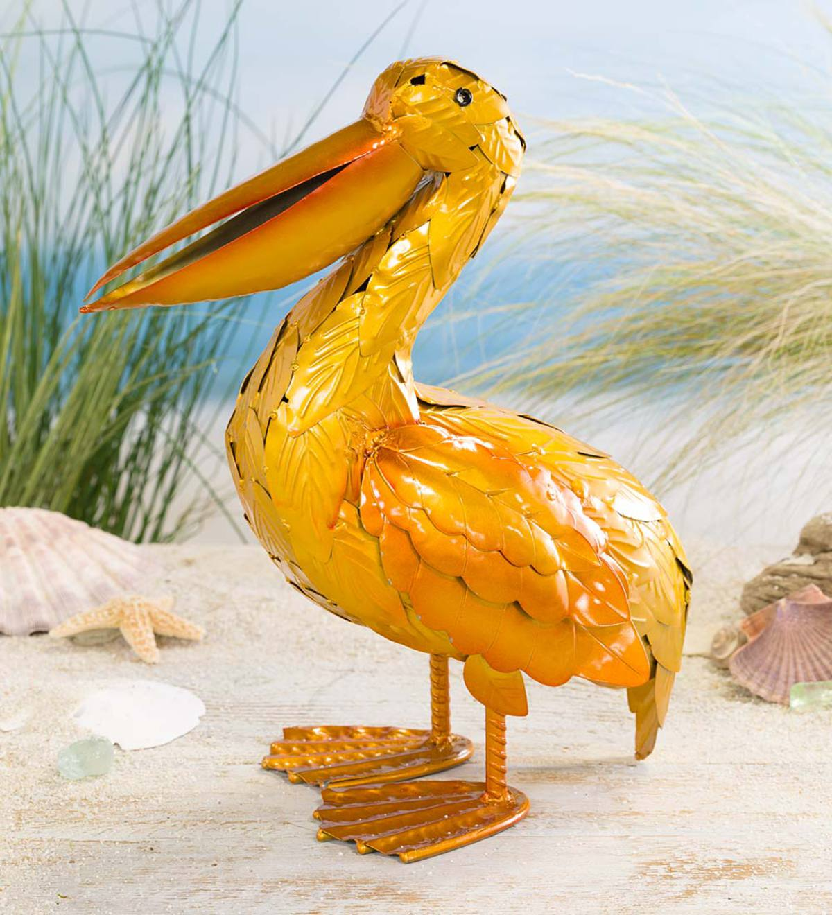 Pete The Pelican Metal Garden Décor | Garden Sculptures | Garden ...