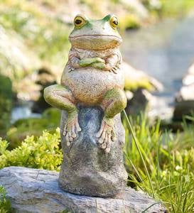 Grumpy Frog Sculpture