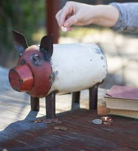 Recycled Metal Piggy Bank