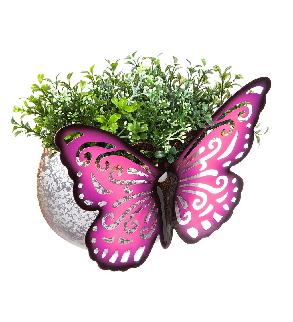 Wall Mounted Butterfly Planter - Orange