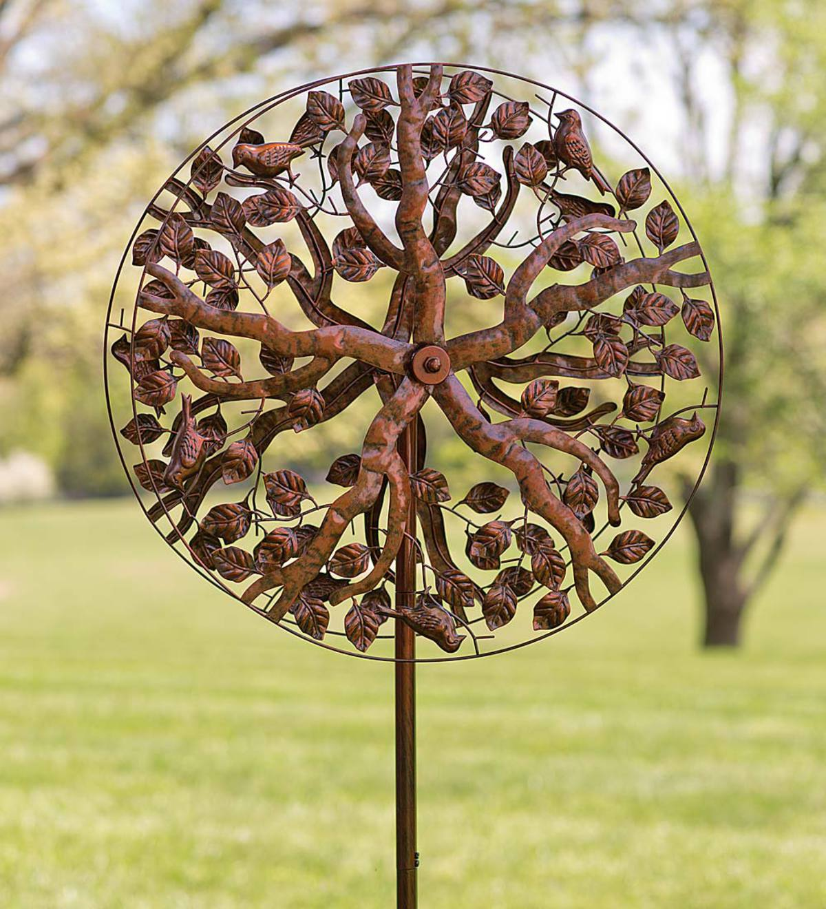Copper-Colored Tree of Life Metal Wind Spinner