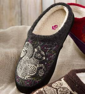 Acorn® Forest Mules Womens Slippers - Grey Squirrel - XL(9-1/2-10-1/2)