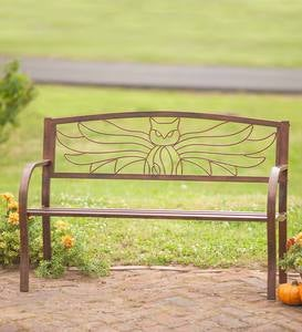 Metal Owl Bench