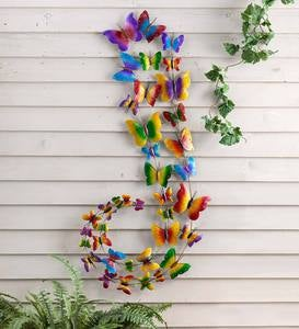 Metal Butterfly Swarm Wall Art