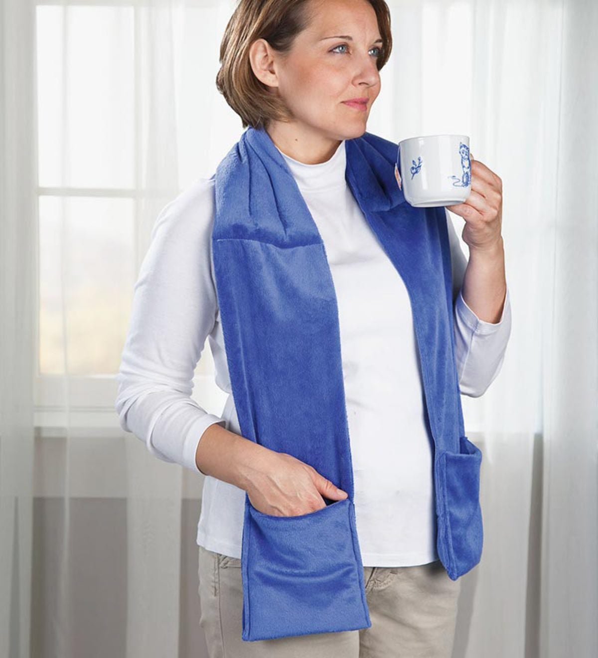 Therapeutic Herbal Scarf - Slate Blue