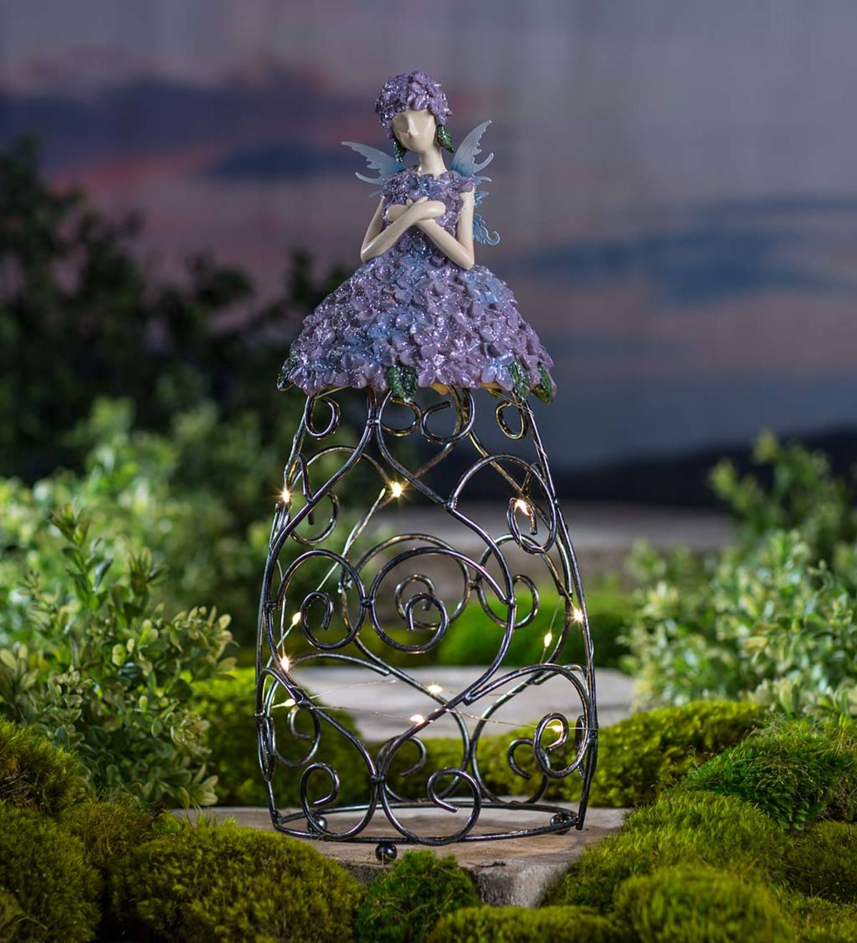 Solar Lighted Garden Fairy - Purple