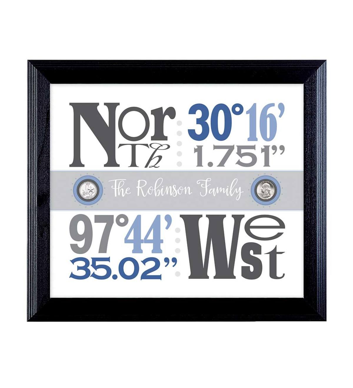 Personalized Year-to-Remember Quarters Wall Art