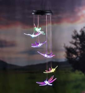 Color-Changing Solar Dragonfly Mobile with Laser