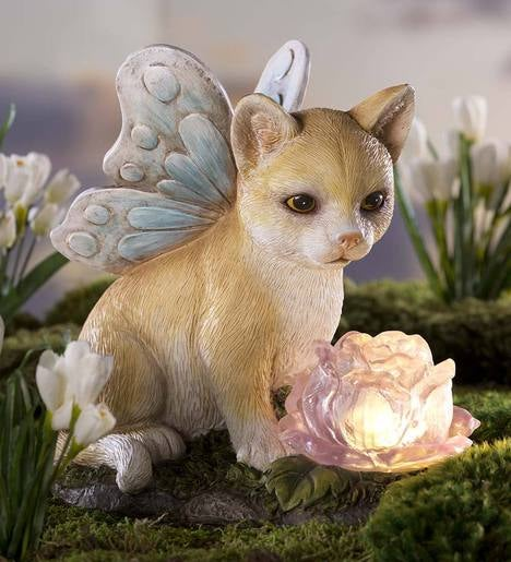 Angel Cat With Solar Flower Wind And Weather