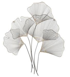 Metal Gingko Leaf Wall Art