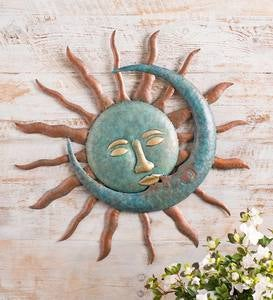 Sun Kissing Moon Metal Wall Art