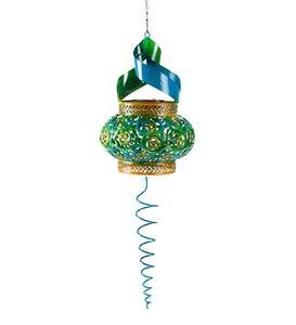 Blue and Green Solar Twirler Spinner