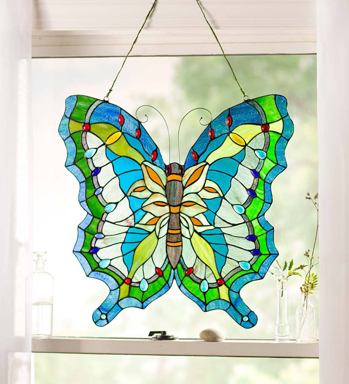Hanging Stained Glass Butterfly