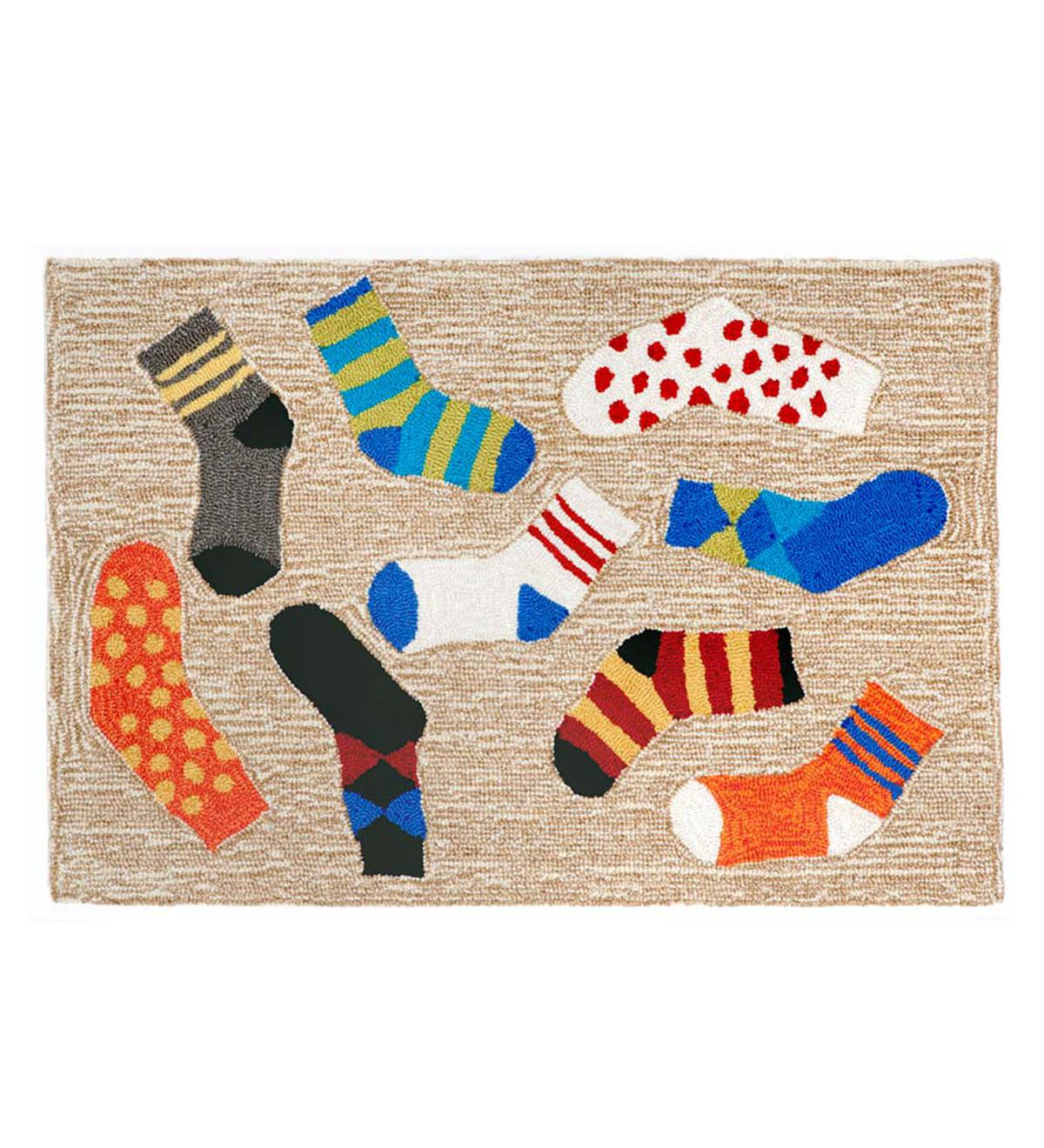"Lost Socks Accent Rug, 27""W x 72""L"