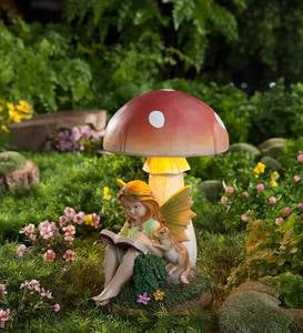 Reading Fairy with Solar Toadstool