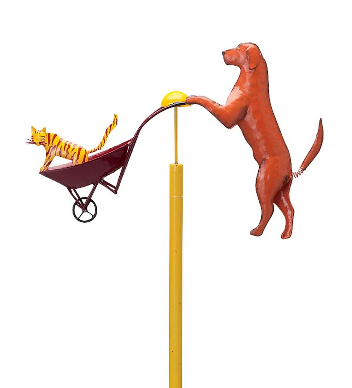 Cat And Dog Balancer Garden Stake
