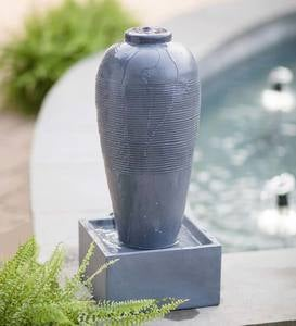 Gray Indoor/Outdoor Jar Fountain