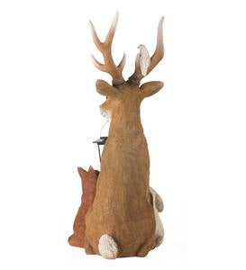 Deer and Friends Solar Holiday Figurine