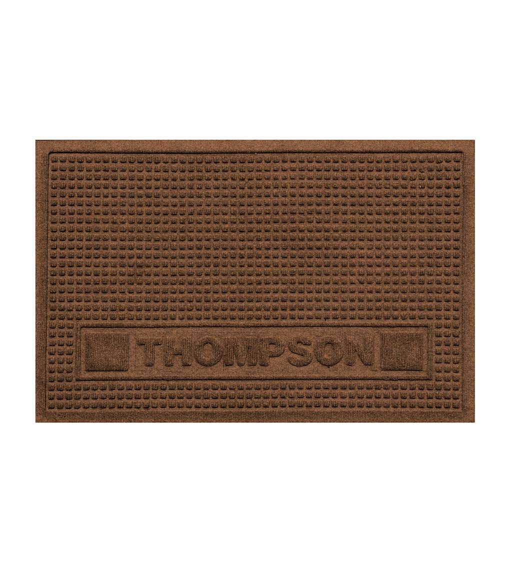Personalized Waterhog Squares Pet Doormat, 2' x 3' - Dark Brown