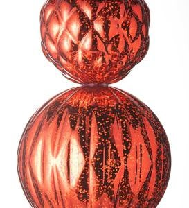 Indoor/Outdoor Lighted Large Shatterproof Holiday Finial Ornament Stake - Red