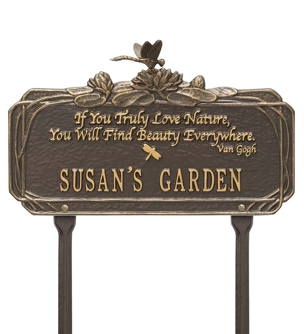 Personalized Van Gogh Dragonfly Garden Plaque