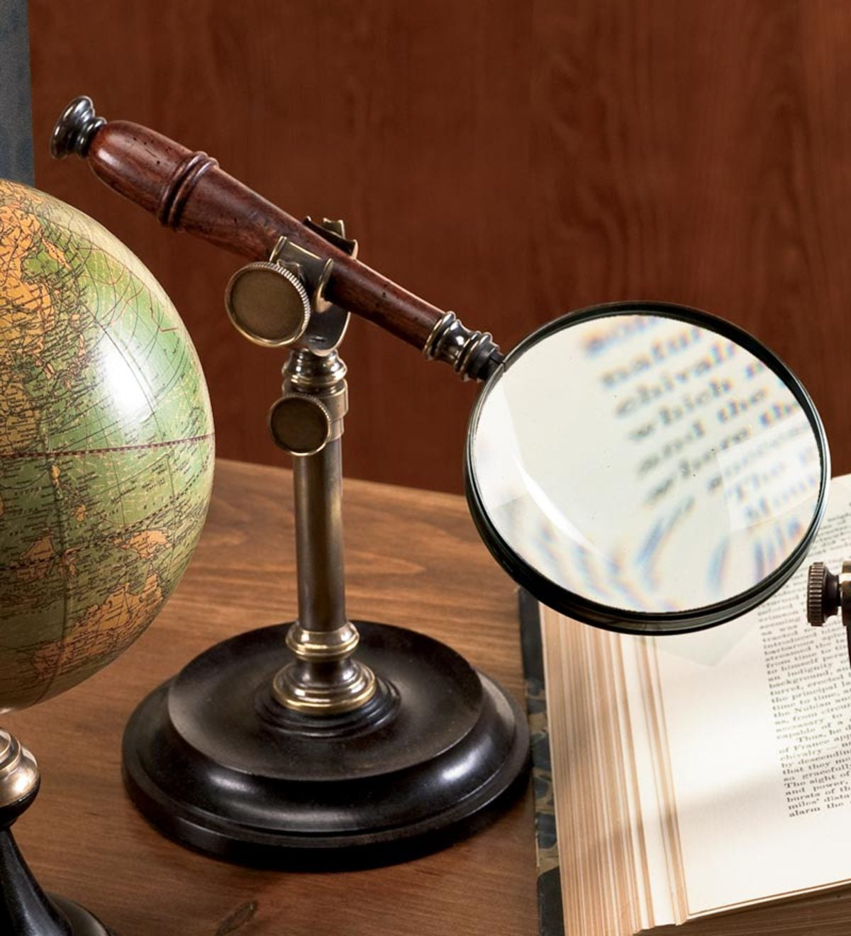 Magnifying Glass on Bronze Stand