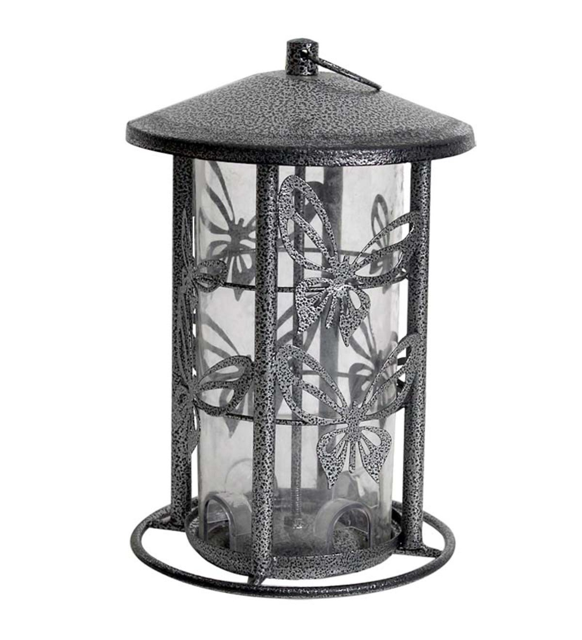 Metal Butterfly Bird Feeder
