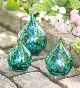 Multi-Colored Glass Solar Lighted Tear Drops