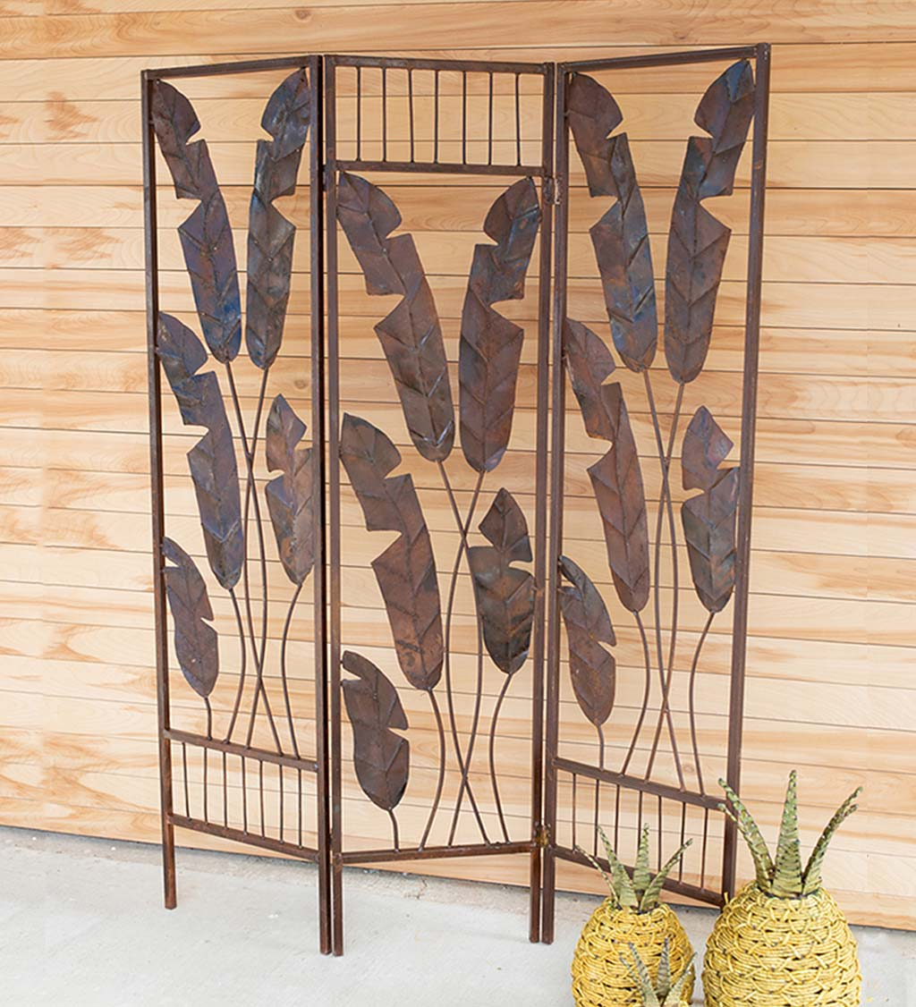 Folding Metal Banana Leaf Screen