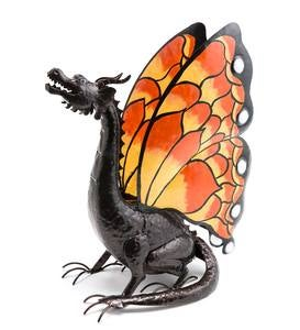 Metal Dragon with Butterfly Wings