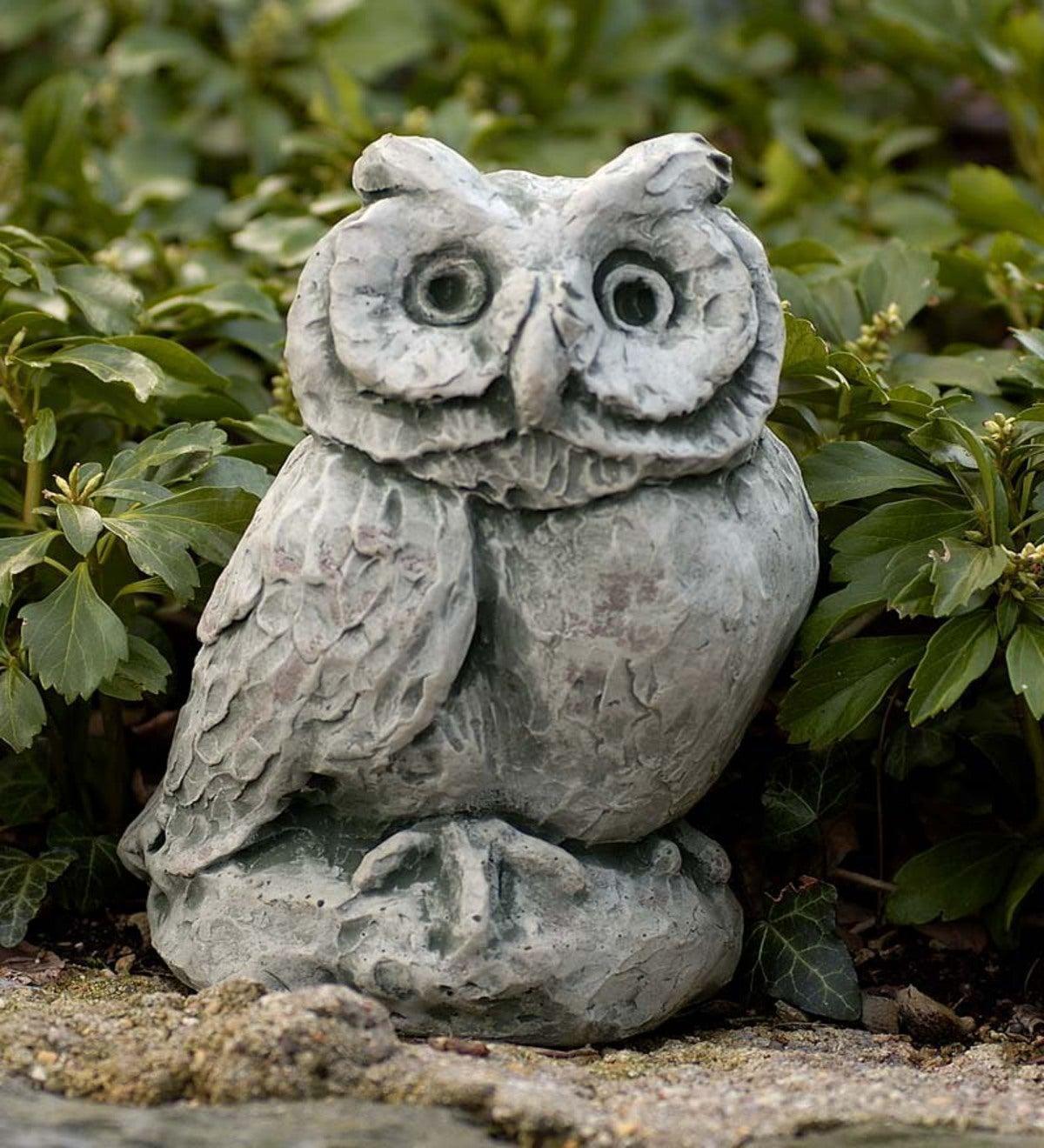 Cast Stone Owl Garden Statue