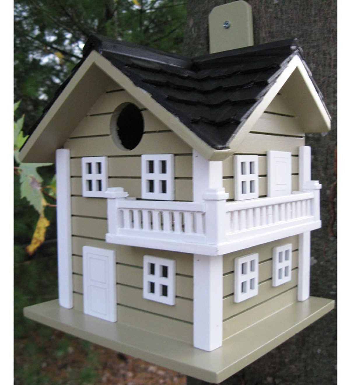 Surf City Cottage Birdhouse - Green