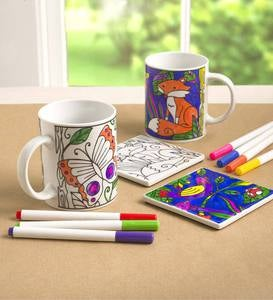 Color Pops® Color Your Own Mug & Coaster Set