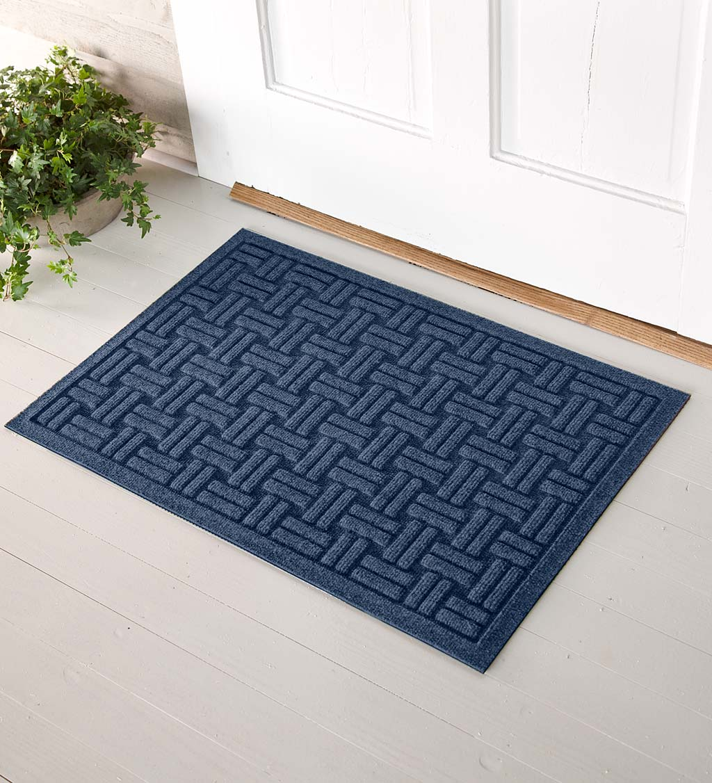 Waterhog Basket Weave Doormat, 2' x 3' - Navy