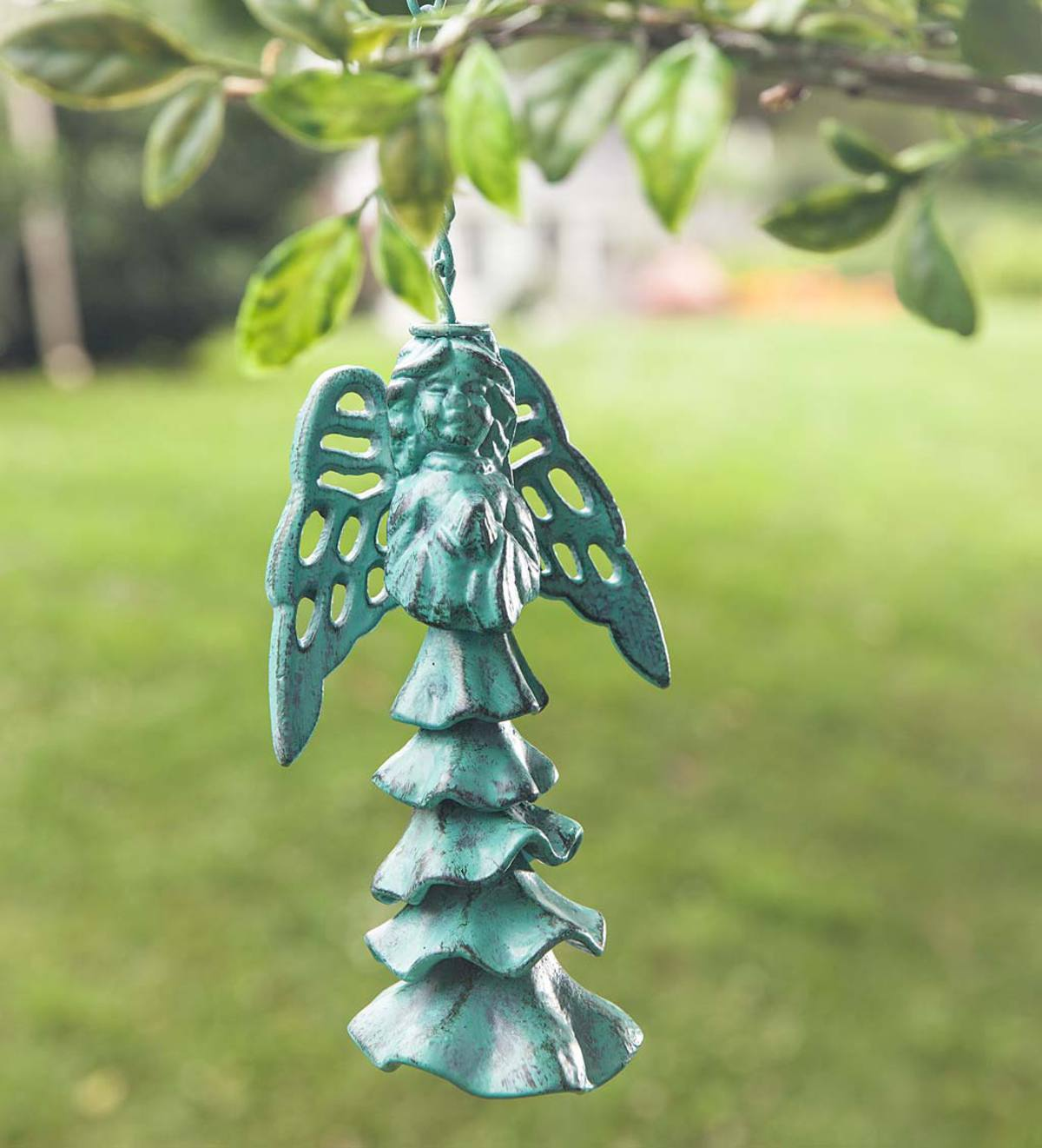 Verdigris Angel Wind Chime